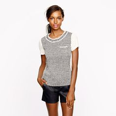 tried this on... it's SUPER cute! Long live tweed for fall...