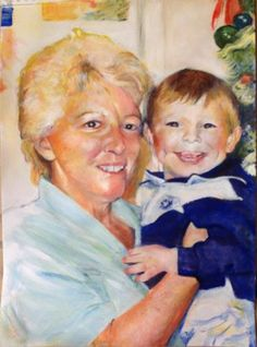 Matthew and Grandma by Sandra - Use the 'Create Similar' button to commission an artist to create your own artwork.