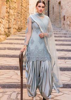 Latest Punjabi Suit Designs Dhoti Salwar Suits, Patiala Dress, Designer Salwar Kameez, Punjabi Dress, Punjabi Suit Patiala, Churidar, Indian Suits Punjabi, Designer Punjabi Suits Patiala, Indian Lengha