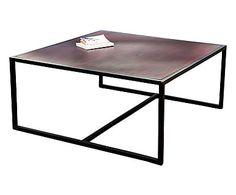 Table basse SMOKE, marron foncé et noir - L100