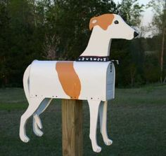 hand painted mailboxes   Mailboxes 4 U,Vehichle mailboxes, #letterboxes Funny Mailboxes, Home Mailboxes, Unique Mailboxes, Painted Mailboxes, Custom Mailboxes, Cat Farm, You Have Mail, One Stroke Painting, Grey Hound Dog