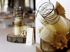 aranjament sticla lemn