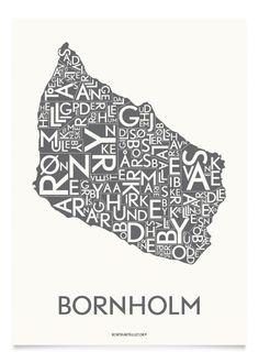 BORNHOLM - KOKSGRÅ - 40x55 CM