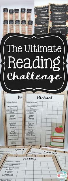 The Ultimate Reading Challenge will challenge students to read a variety of texts over the school year. Since it is editable, it is adaptable to a wide variety of age levels! Type in whatever genres or categories you would like. You can even get creative with it- instead of genres, type in ANY type of category you would like (such as from an award winning author, books your parents read as a child, etc!)edu