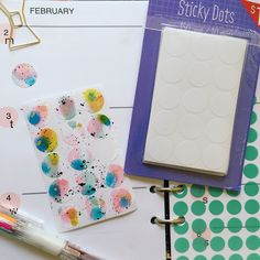 """Easy, fun, and colorful (really my only three requirements) to DIY your own planner labels with white round labels from the #targetdollarspot"" - Ashley Goldberg"