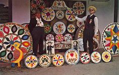 """PENNSYLVANIA DUTCH HEX SIGNS -  Prof. Johnny Ott, Hexologist from Lenhartsville, Penna. and Jacob Zook, The Hex Man of Paradise, Penna., bring you """"Good Luck Signs"""" for every situation from """"sore feet"""" to the """"farmer with unhappy pigs"""" to """"mother-in-law troubles""""."""