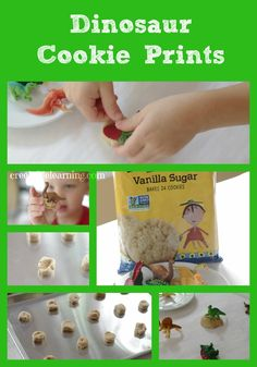 Learning About Dinosaurs: Dinosaur Cookie Prints