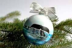WHALE TAILHandpainted Christmas Ornament by alaskaballs on Etsy