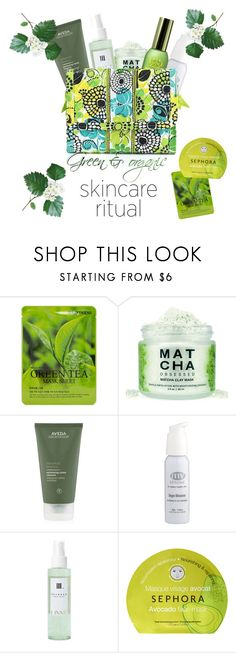 """""""Green & Organic skincare 🌱"""" by greensparkle1 ❤ liked on Polyvore featuring beauty, Forever 21, Aveda, SkinCare, Sephora Collection and Vera Bradley"""