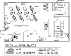 Beauty Salon Floor Plan Design Layout - 283 Square Foot | Salon ...