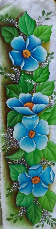 """""""One Stroke Painting"""" China Painting, Tole Painting, Fabric Painting, Painting & Drawing, Bed Sheet Painting Design, One Stroke Painting, Easy Paintings, Painting Patterns, Pictures To Paint"""