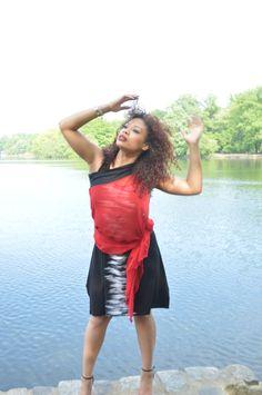 Rock'N Karma black ride dress licra/rayon Coupled with Theory skirt