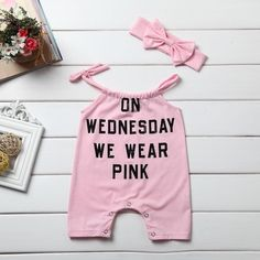 On Wednesday We Wear Pink Romper