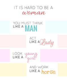 Celebrate International Women's Day with our free printable! Happy Woman Day, Happy Women, Act Like A Lady, Guys Be Like, Ladies Day, Looking For Women, Wise Words, Free Printables, Life Quotes