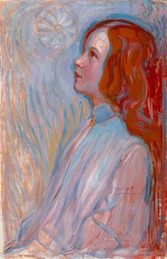 Piet Mondrian, Devotion, 1908 (Oil on Canvas; 94 x 61 cm. Piet Mondrian, Dutch Painters, Dutch Artists, Art Abstrait, Figure Painting, Bauhaus, Les Oeuvres, New Art, Art History