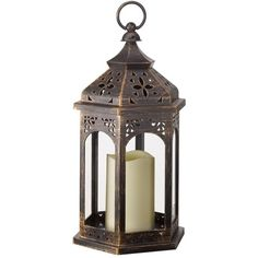 Smart Garden Moroccan Lantern ($22) ❤ liked on Polyvore featuring decor, moroccan style lanterns, garden lanterns, battery powered lanterns, battery operated light and battery powered light