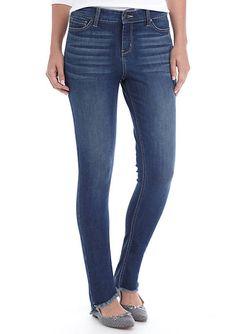 Hi-Rise Uneven Hem Skinny Jeans Skinny Fit ed5afbf8dd34