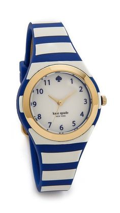 Kate Spade blue and white watch