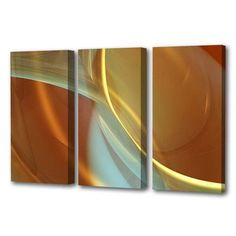 Menaul Fine Art 'Musings Natural Triptych' by Scott J. Menaul 3 Piece Graphic Art on Wrapped Canvas Set Size: