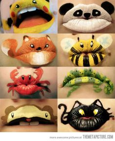 O.o  I've seen some pretty crazy make-up, but I think these have to go near the top of the list.
