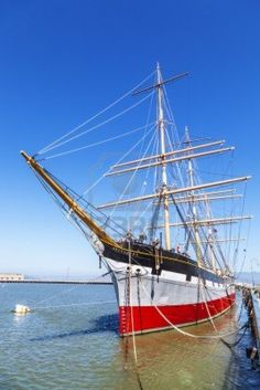"Built in 1886, ""Balclutha"" is on display at San Francisco Maritime National Historical Park, California."