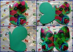 Butterfly art painting for kids hungry caterpillar Ideas for 2019 The Very Hungry Caterpillar Activities, Caterpillar Art, Butterfly Crafts, Butterfly Art, Simple Butterfly, Butterfly Painting, Paper Butterflies, Painting For Kids, Art For Kids