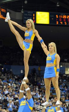 Victoria is a UCLA Cheerleader. She has been doing cheer since she was a little girl. She enjoys cheering because it gives her self confidence and it keeps her physically fit! She is a flyer for her cheer team. Cheerleaders Oops, College Cheerleading, Cheerleading Pictures, Ncaa College, Cheerleader Girls, College Basketball, Girly Games, Cute Cheer Pictures, Gymnastics Girls