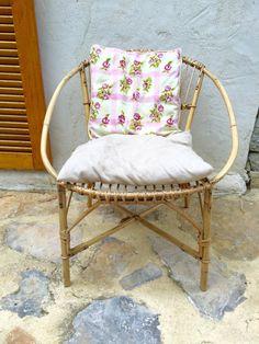 Garten-Lounge Stuhl Rattan Jahrgang 1970 von sosthen auf Etsy