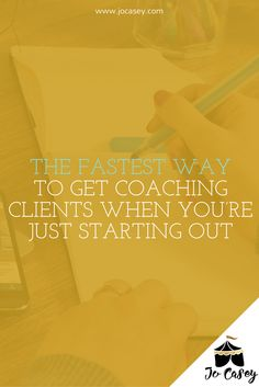 I get it - you're a new coach and you wanna know the fastest way to get coaching clients when you're just starting out.