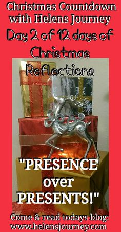 "CLICK to read ""Presence over Presents"" a Christmas reflection about it being who we share it with being important not the gifts we get... #bepresent #liveinthenow #inthenow #ChristmasReflections #christmas #christmasgifts #wordsforchristmas #christmaslifelessons #presencenotpresents #timewithlovedones #blogmas Mental Health Blogs, Mental Health Support, Christmas Reflections, Blog Online, Live In The Now, Christmas Countdown, 12 Days, Educational Technology, Blog Tips"