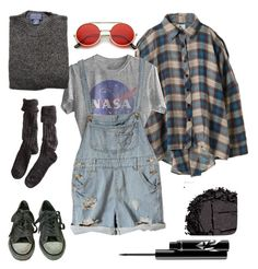 Apr a fashion look from january 2017 featuring shirt top, blue ro Grunge Outfits, Retro Outfits, Cute Casual Outfits, Vintage Outfits, Tokyo Street Fashion, 90s Fashion, Fashion Models, Fashion Looks, Fashion Outfits