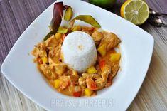 Kurczak na sposób tajski z mango i mlekiem kokosowym French Toast, Mango, Eggs, Diet, Breakfast, Food, Manga, Morning Coffee, Egg