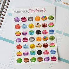 Small macaroon stickers! How cute are these?! JLynnPaperCo.etsy.com #stickers #plannerstickers #planner #erincondren #erincondrenlifeplanner #eclp #jlynnpaperco #etsy #planneraddict #plannerlove #plannerjunkie #valentines #valentinesday #sale #grandopening #grandopeningsale #etsysale