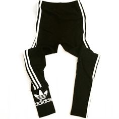 """ADIDAS Black Skinny Leggings / Workout Pants! These pants are awesome! Only worn a few times! Kept in good condition. No stains or piling. I cut the tag inside because it was rubbing against my skin. It is a size small. The top does have stretch and will fit up to a 27"""" waist. These are bit high waisted. Any questions, please ask! Adidas Pants Track Pants & Joggers"""