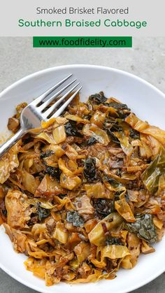 This braised cabbage is probably the best cabbage you'll probably eat. The hyperbole is legit. The cabbage is braised to delicious tenderness and flavored primarily with the fat cap from leftover smoked brisket. #braised cabbage #cabbagerecipes #soulfood #southernfood #dinner #keto #sidedish Cabbage And Sausage, Cabbage Soup, Grilled Cabbage Wedges, Cabbage Side Dish, Braised Cabbage, Side Dishes For Bbq, Smoked Brisket, Cabbage Recipes, Pumpkin Soup