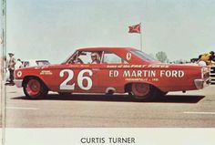 Suspended from NASCAR in 1961 for trying to organize the drivers, Curtis Turner rule the USAC stock car circuit until his return in 1965. This is his 1963 USAC Ford.