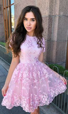 Plus Size Prom Dress, A-Line Organza Applique Sheer Neck Sleeveless Short/Mini Homecoming Dresses Shop plus-sized prom dresses for curvy figures and plus-size party dresses. Ball gowns for prom in plus sizes and short plus-sized prom dresses Lace Homecoming Dresses, Hoco Dresses, Trendy Dresses, Elegant Dresses, Sexy Dresses, Cute Dresses, Evening Dresses, Summer Dresses, Semi Formal Dresses For Teens