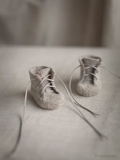 Baby shoes Newborn booties Natural organic wool booties Baby shower gift Felted unisex eco friendly light greyish brown shoes                                                                                                                                                      More