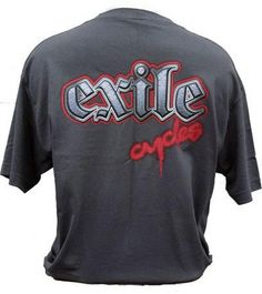 Exile Cycles - Steel letters on Black T-shirt Letters, Steel, Clothing, T Shirt, Black, Tops, Fashion, Outfit, Moda