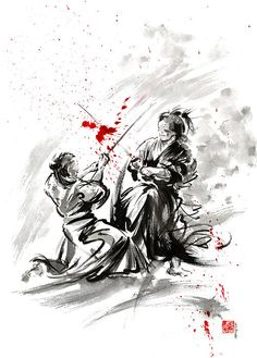 Samurai paintings and prints for sale.