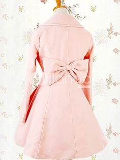 Trench with a bow! So cute!  Very pretty; I would especially like it in blue.