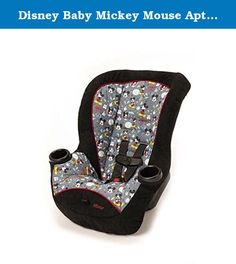 Disney Baby Mickey Mouse Apt Convertible Car Seat. Travel is more fun with Mickey Mouse along for the ride! This Disney Apt convertible car seat gives your child a comfy rear-facing ride ... all the way up to 40 pounds! It allows babies to remain in a safer rear-facing position up to 40 pounds and 40 inches in height. Need a safe seat for your tall toddler? The Apt moves into a forward-facing position for children up to 40 pounds and 43 inches in height.