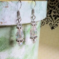 Crystal and sterling silver earrings by Acacia by Acaciabella, $30.00