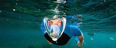 Very cool full face #snorkel mask, looks like a fun way to see the underwater world :)