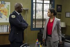 """#Brooklyn99 2x02 """"Chocolate Milk"""" -  Captain Holt and Detective Amy"""