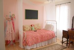 girls pink room | Pink Thread by Benjamin Moore at The Pink Peony of Le Jardin