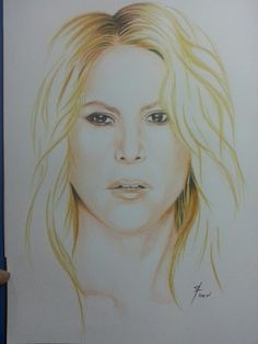 Shakira Colored pencils on paper A4