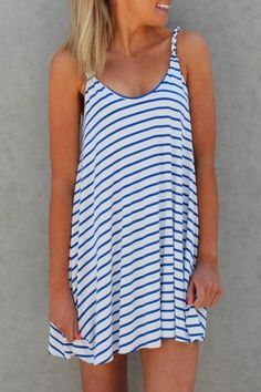 Gypsy Stripe Dress This easy to wear dress is a simple navy white stripe. $49 SHOP: http://www.jeanjail.com.au/ladies/gypsy-stripe-dress.html