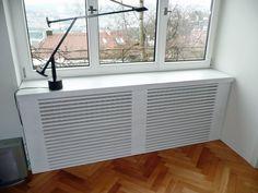 Heizkörperverkleidung                                                                                                                                                                                 Mehr Home Radiators, Radiator Covers Ikea, Diy Interior, Interior Design, Attic Design, Window Sill, Diy Furniture, Sweet Home, Dining Room