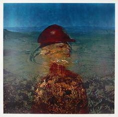 Sir Sidney Nolan 'Landscape - Miner/Red Helmet', 1973 © The estate of Sir Sidney Nolan. All Rights Reserved 2010 / Bridgeman Art Library